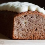 Banana Loaf Cake with Cream Cheese Icing 1