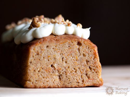 Carrot Loaf Cake with Cream Cheese Icing and Walnuts 1