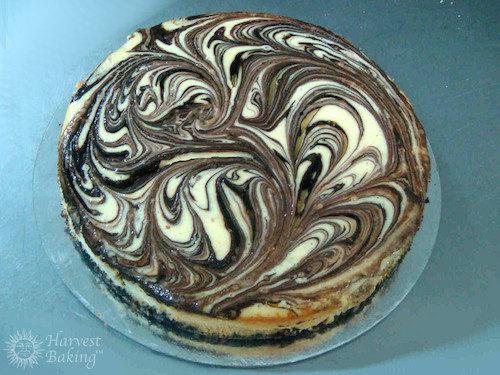 New York Chocolate Vanilla Marble Swirl Cheesecake