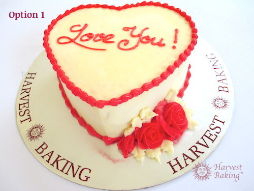 Heart Shape Cake Decoration At Home : Valentine Heart Shaped Cake Harvest Baking